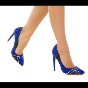Royal blue pumps from GX by Gwen Stefani